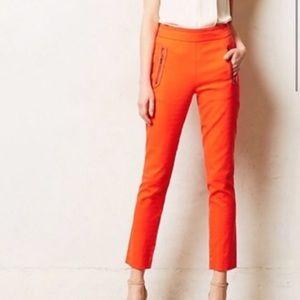 Cartonnier Bright Orange Textured High Rise Pant 6